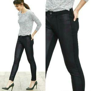 Banana Republic Sloan Faux Leather Pants Black 4P